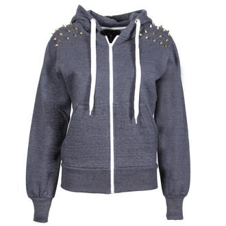 View Item Navy Blue Spiked Shoulder Hoody